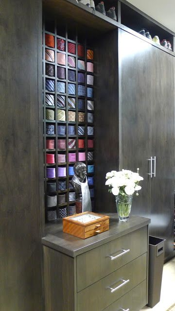 Tie storage - beautiful.  ciao! newport beach: home tour day