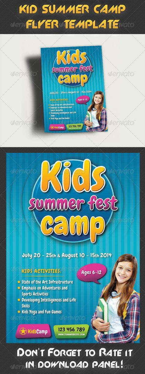 Kids Summer Camp Flyer Template Psd  Flyer Templates