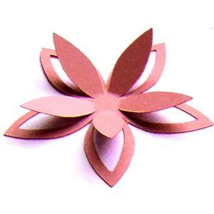 3d Cutout Flower Paper Flowers Diy Paper Flowers Mason Jar Crafts
