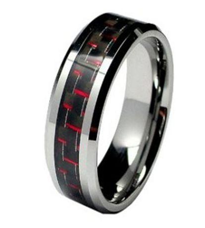 Quintessential Men S Titanium Ring W Carbon Fibre Inlay Silver 9 Titanium Rings For Men Mens Wedding Rings Wedding Ring Bands
