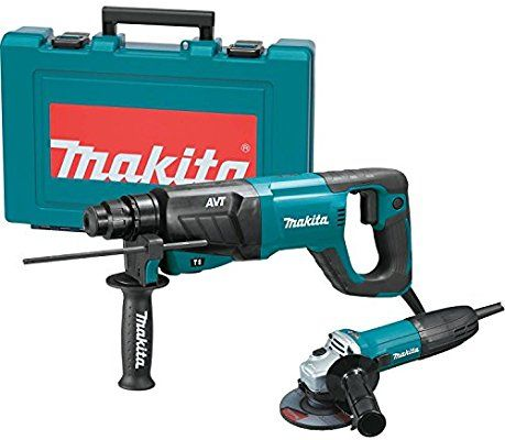 Makita Hr2641x1 Sds Plus 3 Mode Variable Speed Avt Rotary Hammer With Case And 4 1 2 Angle Grinder 1 Amazon Com Angle Grinder Makita Claw Hammers