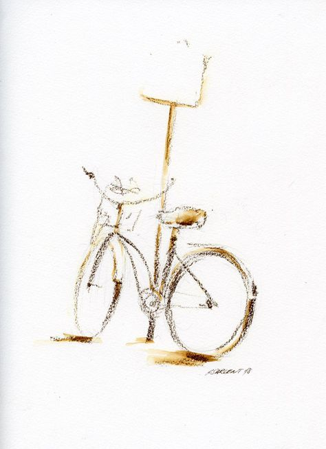 Bike 05 With Images Charcoal Drawing Drawings Bicycle Painting