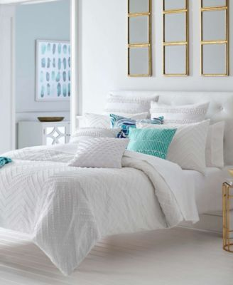 Trina Turk Freya White Comforter Set Full Queen Reviews Comforters Bed Bath Macy S Duvet Sets White Comforter Bedding Sets