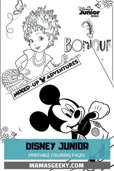 Free Printable Disney Junior Coloring Pages Disney Music Playlists In 2020 Disney Junior Coloring Pages Disney Coloring Pages