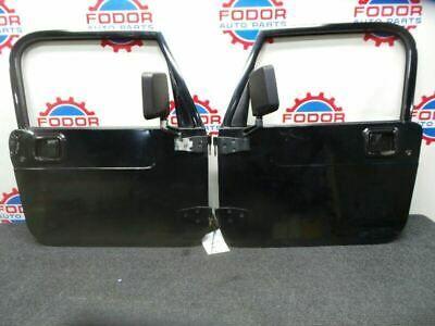 Sponsored Ebay 97 06 Jeep Wrangler Tj Full Doors Pair Oem Black In 2020 Jeep Wrangler Tj Jeep Wrangler Wrangler Tj