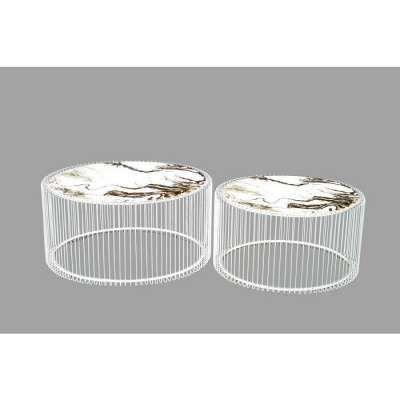 Couchtisch Wire Glas Marble Schwarz 2 Set Mit Bildern Couchtisch Couchtisch Schwarz Glas