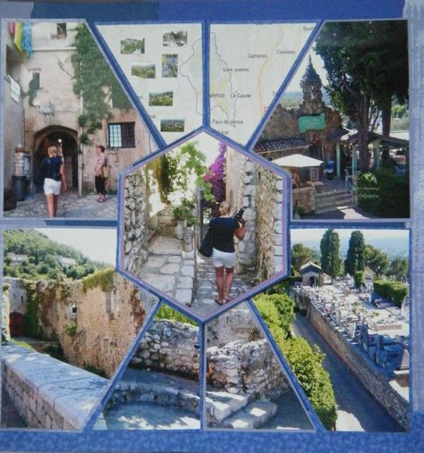 Nice, France. June 2012 - Scrapbook.com; nice with landscape photos framing a photo with people in it or a focal picture