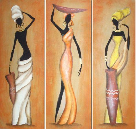 Pintura em tela de Negras Africanas on Pinterest | African Art ...