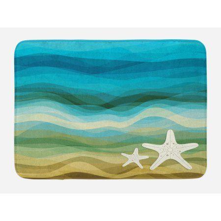 3drose Aqua Starfish Abstract Beach Theme Mouse Pad