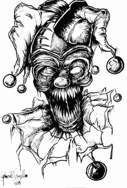 Scary Clown Coloring Pages New Zombie Clown Coloring Pages Scary Clown Face Drawing At Monster Drawing Monster Coloring Pages Evil Clowns