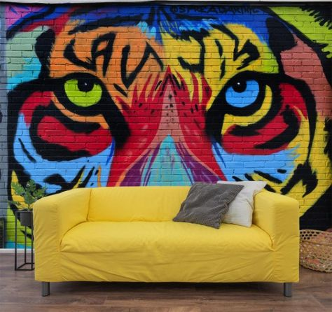 If we are staying inside why not make those walls exciting with an authentic graffiti mural from one of NYC's top graffiti artists.