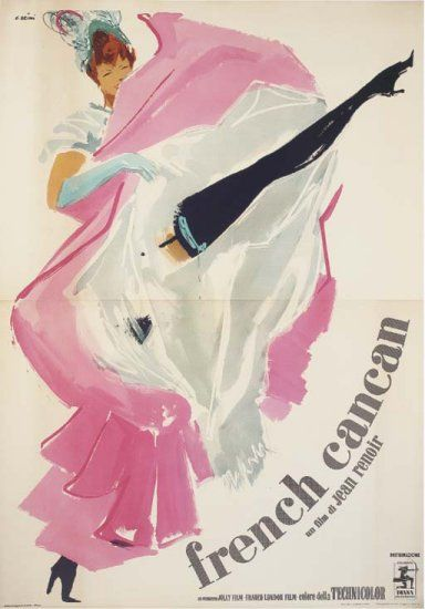 French Cancan / French Can Can Movie Posters Original and Vintage