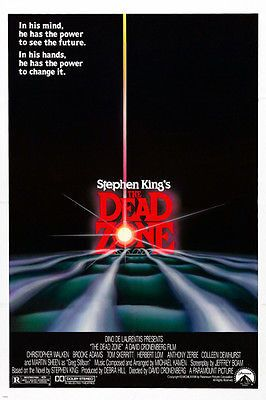 stephen king/'s THE DEAD ZONE movie poster CHRISTOPHER WALKEN horror 24X36