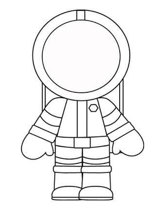 Etkinlik Plani Astronot Uzay Mekigi Boyama Kagidi
