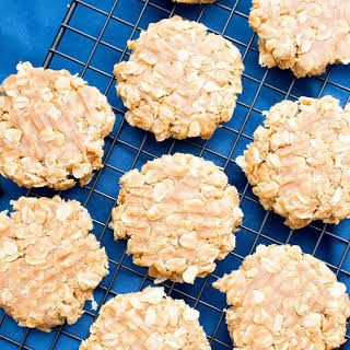 3 Ingredient No Bake Peanut Butter Oatmeal Cookies Gluten Free