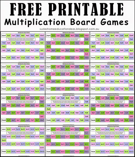 Keeping Multiplication Fun and Hands-on - FREE PRINTABLE Multiplication Board Games