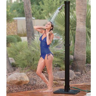 The Adjustable Temperature Outdoor Shower - Hammacher Schlemmer