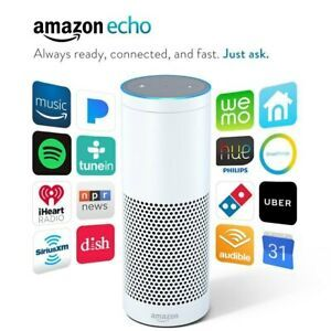 Amazon Echo Bluetooth WiFi Smart Speaker with Alexa 1st Generation ...