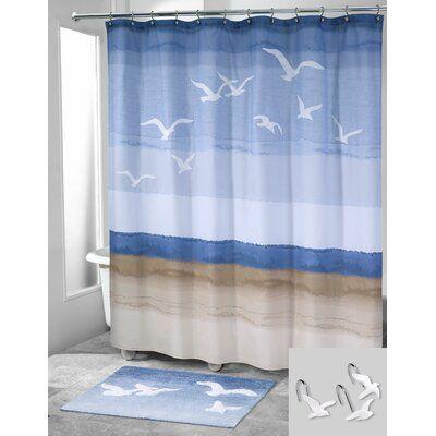 Highland Dunes Sanya 2 Piece Shower Curtain Set Hooks Bath
