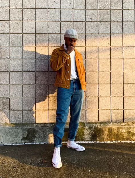 - [WDYWT] Gold Standard – hot street style , look , style outfits casual , urban , street wear Stylish Mens Outfits, Casual Outfits, Men Casual, Mens Sweater Outfits, Winter Outfits Men, Hot Outfits, Paar Style, Black Men Street Fashion, Black Mens Vintage Fashion
