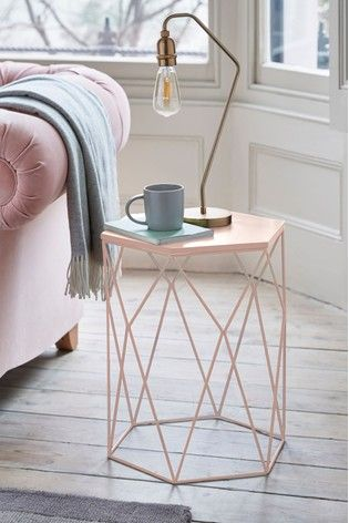 60 Next Hexagon Side Table 50cm Tall 43cm Wide Side Table Side