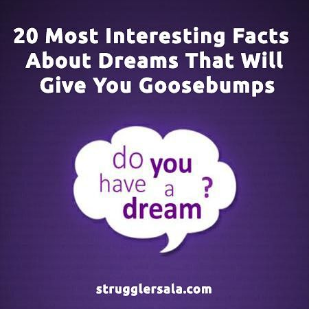 Most Interesting Facts >> Most Interesting Fact About Dreams That Will Give You