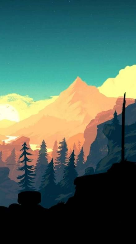 New Landscape Mountain Trees Cloud Ideas In 2020 Landscape Illustration Scenery Wallpaper Landscape Art