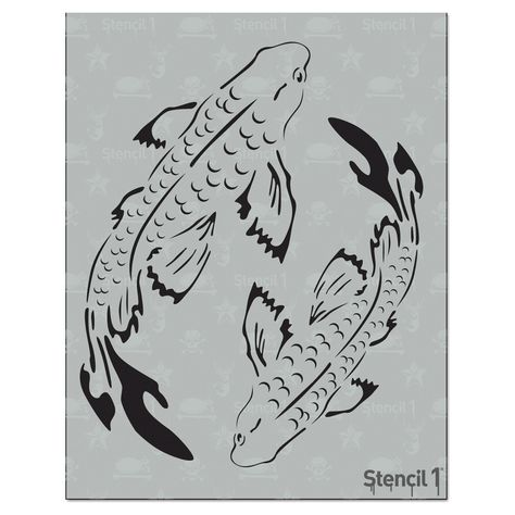 This easy-to-use Koi Stencil from is perfect for walls, home decor, clothing and more. Each stencil is cut high quality in order to provide a long lasting design. The possibilities of what you can create with a stencil are endless. Cool Art Drawings, Pencil Art Drawings, Art Drawings Sketches, Easy Drawings, Sharpie Drawings, Cool Sketches, Drawing Faces, Painting & Drawing, Painting Walls