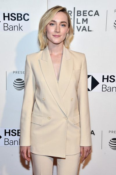 Saoirse Ronan attends 'The Seagull' premiere during the 2018 Tribeca Film Festival.