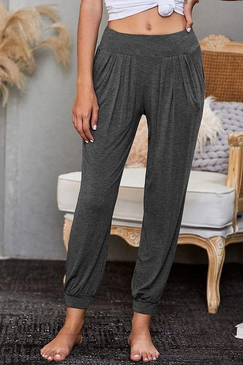 Casual Women's Gray Stylish Lounge Pants - Gray / XL
