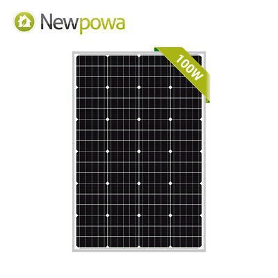 100w Solar Panel 100 Watt Module Monocrystalline 12v Newpowa Camping Rv Marine Ebay In 2020 Flexible Solar Panels Solar Panels Solar Panel Battery