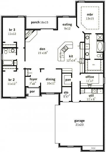 Rg1835 10 Rick Garner Designer 1854 Sq Ft House Plans New House Plans House Blueprints