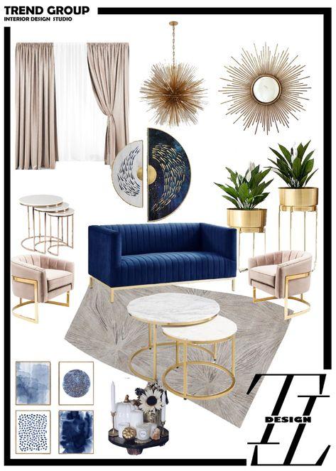 Velvet sofa - navy