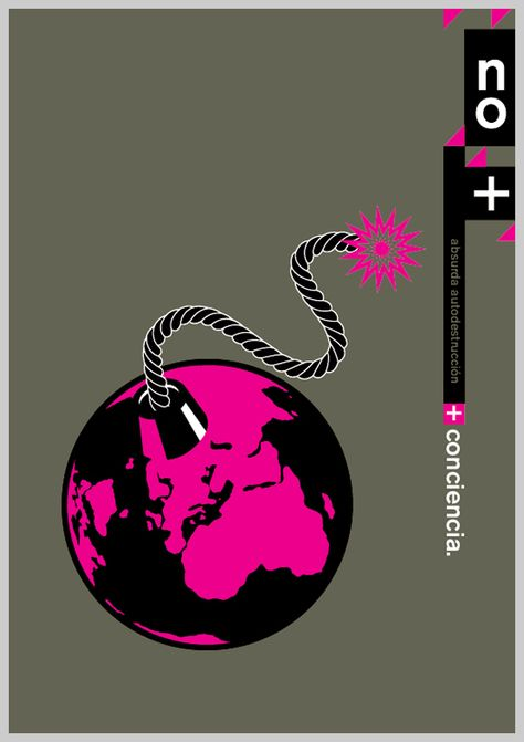 environmental awareness posters earth grenade