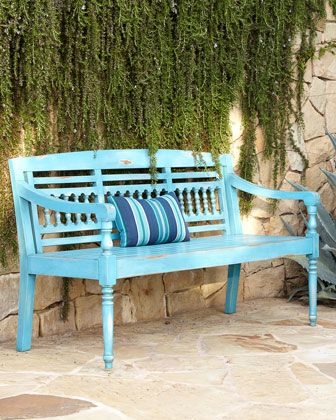 Shop Maya Blue Teak Outdoor Bench at Horchow, where you'll find new lower shipping on hundreds of home furnishings and gifts.