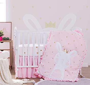Lorient Home 3 Piece Crib Baby Bedding Set Pink Princess Bunny 014 01 Gp Baby Bed Nursery Bedding Sets Princess Crib Bedding 3 piece crib bedding set