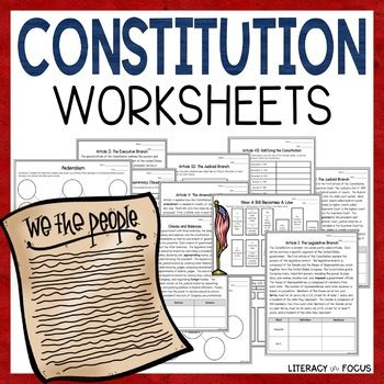 Us Constitution Worksheets Graphic Organizers Printable Digital Constitution Day Social Studies Notebook Engaging Lesson Plans Number chart worksheets us constitution