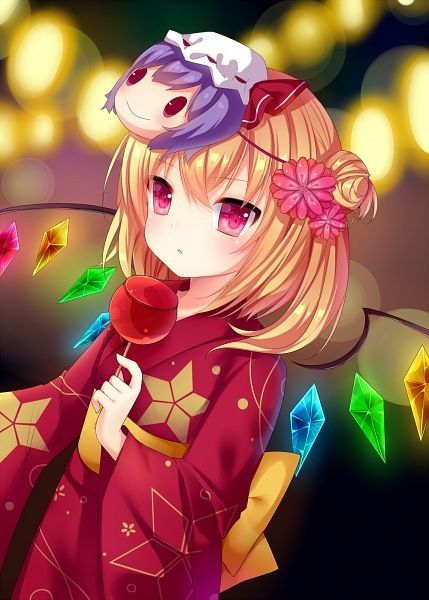 anime kimono girl おしゃれまとめの人気アイデア pinterest phoenixwing 可愛いアニメガール 東方 かわいい フランドール スカーレット