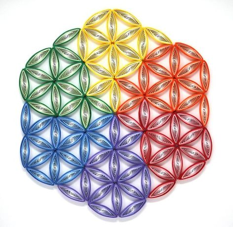 Flower of Life/ Sacred Geometry/ Quilling/ Paper Art/ Quilling Art/ Wall art/ Mandala/ Sacred geomet
