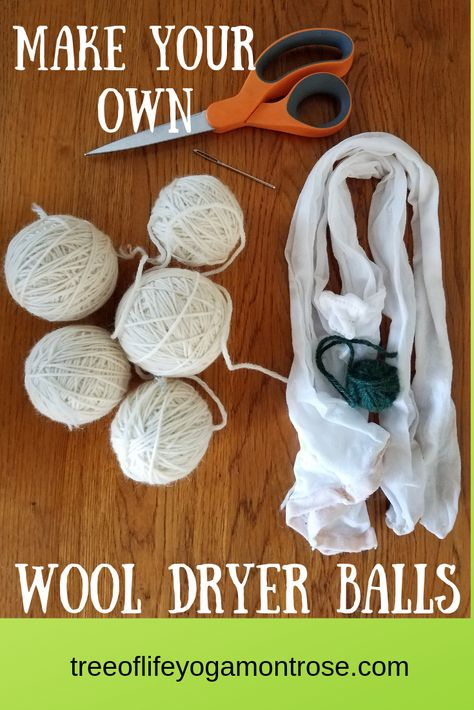 Wool Dryer Balls – All Natural Alternative to Dryer Sheets/Fabric Softeners | Tree of Life Yoga and Wellness