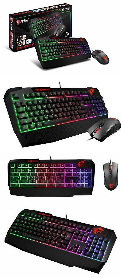 Msi Vigor Gk40 Combo Vigor Gk40 Gaming Keyboard And Clutch Gm10 Gaming Mouse 824142155783 Ebay Gaming Mouse Msi Keyboard