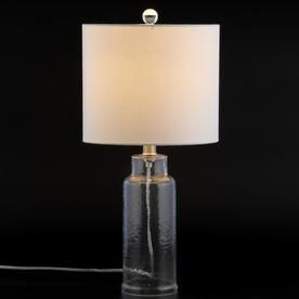Safavieh Carmona 21 In Clear Rotary Socket Table Lamp With Fabric Shade Mlt4004a Table Lamp Clear Table Lamp Lamp
