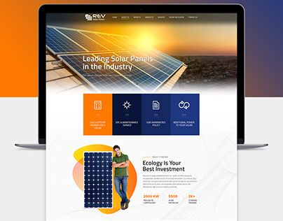 Check Out New Work On My Behance Portfolio Solar Panel Webdesign Http Be Net Gallery 77527619 Solar Panel Webdesign