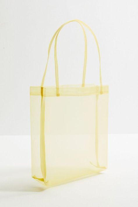 Slide View: 2: Mesh Mini Tote Bag #ladiestotebagsonline