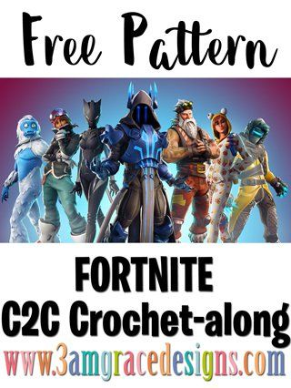 Fortnite C2C Crochet-along - Announcement - Free Crochet