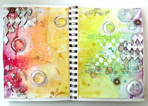 by DeeDee Catron: Double page spread {Art Journal}