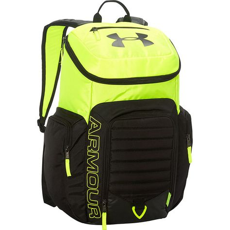 Under Armour Undeniable Backpack II Backpack ($59) ❤ liked on Polyvore featuring bags, backpacks, green, school & day hiking backpacks, pocket bag, green laptop bag, under armour backpack, backpacks bags and shoulder strap backpack