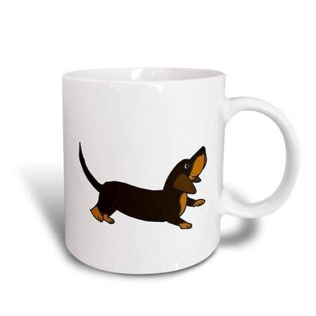 3drose Funny Crouching Dachshund Puppy Dog Ready To Play Ceramic Mug 15 Ounce Dogs And Puppies Dachshund Gifts Dachshund Puppy