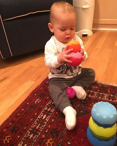 One year old Chase Osborne loves playing with his Neo Tobbles from @fatbraintoys !  #wonderworkstoys #magichappenshere #toddler #toys #toystore #toystagram #Charleston #play #fun #instababy #fatbraintoys