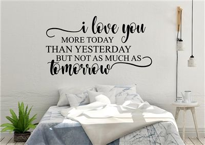 Pin By Enchantingly Elegant On My Vinyl Decals Vinyl Wall Decals Wall Decals For Bedroom Love You More